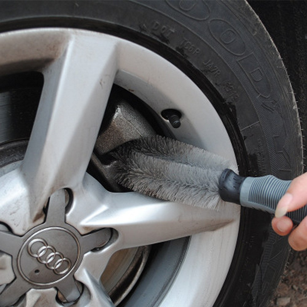Image 2 - Car Wheel Sponge Brush Car Rim Wash Cleaning Brush Tire Rim Hub Brush Cleaning Tool Kit For Auto Car Motorcycle Wash Brush-in Sponges, Cloths & Brushes from Automobiles & Motorcycles