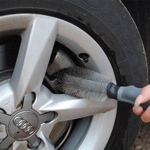 Image 2 - Car Wheel Sponge Brush Car Rim Wash Cleaning Brush Tire Rim Hub Brush Cleaning Tool Kit For Auto Car Motorcycle Wash Brush