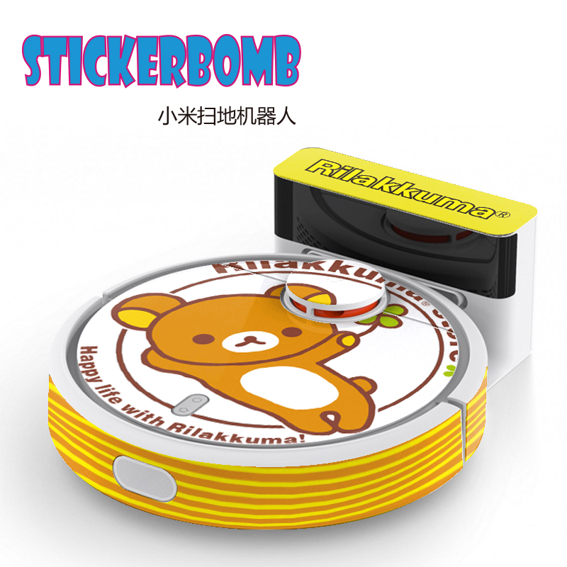 STICKERBOMB for Xiaomi Robot Cleaner XIAOMI MI cute sticker MI robotic vacuum cleaner protect film original xiaomi mi robot virtual wall for robotic vacuum cleaner