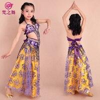 New Design Children Belly Dance Costume 3pcs 2pcs Indian High Class Kids Bellydance Wear Bra Belt