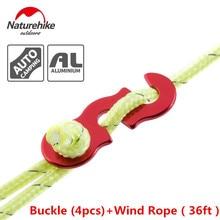 *Brand 4pcs buckle+12m wind rope set S shape Tent Wind Rope Buckles Outdoor Camping Wind Rope stopper Antislip Wind Rope Buckles