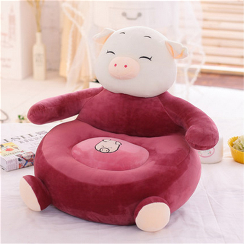 Fancytrader Plush Animals Pig Monkey Kids Sofa Chair 55cm X 50cm Stuffed Anime Toys Cushion Gifts for Children fancytrader soft anime radish plush toys giant stuffed emulational carrot sleeping pillow cushion for kids and adults gifts