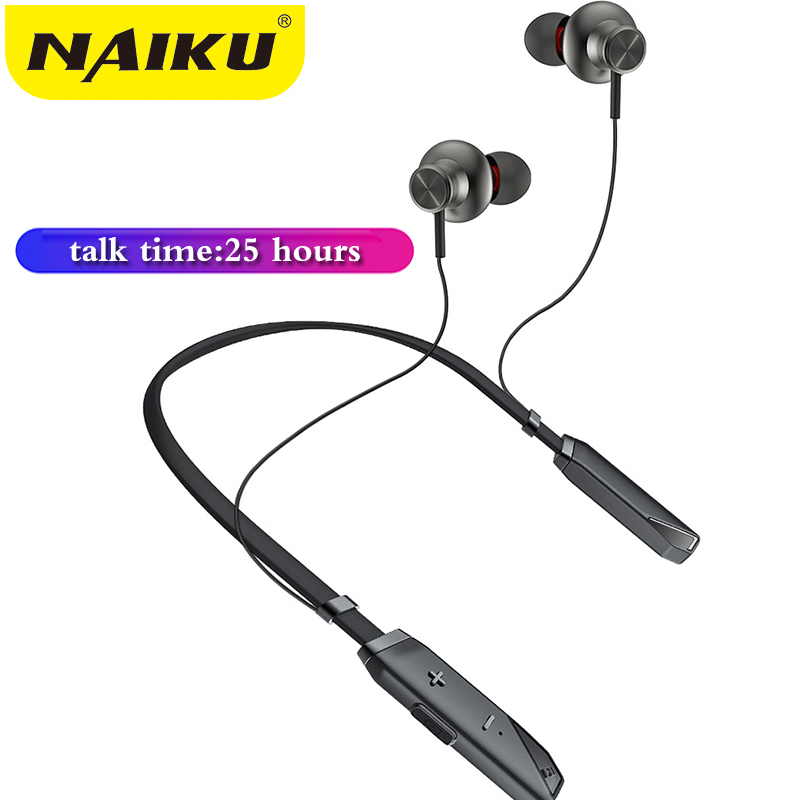 NAIKU New Bluetooth Earphones Neckband Wireless Headphones Stereo Sport Bluetooth Headset with Mic Handsfree for iPhone Xiaomi