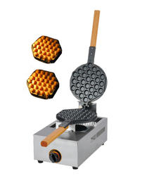 Бесплатная доставка Тип газа Гонконг Eggettes машины яйцо вафельный гриль антипригарная Пан