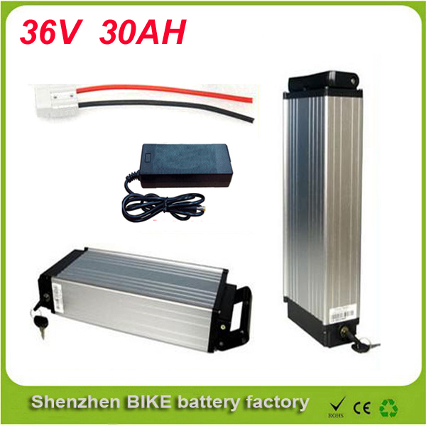 High capacity rear rack lithium ion battery 36v 1000w electric bike battery 36v 30ah ebike battery + charger For Panasonic cell 2016 promotion new standard battery cube 3 7v lithium battery electric plate common flat capacity 5067100
