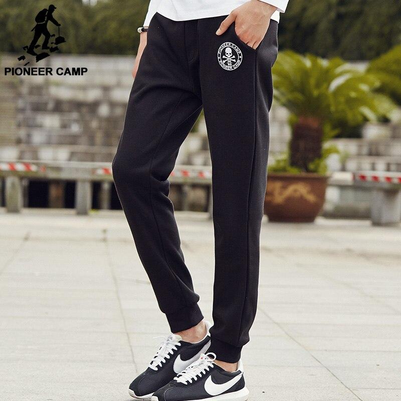 Пионерский лагерь толстый флис повседневные штаны мужская брендовая одежда осенно-зимние мужские хлопковые спортивные штаны  новинки качественные модные тёплые брюки