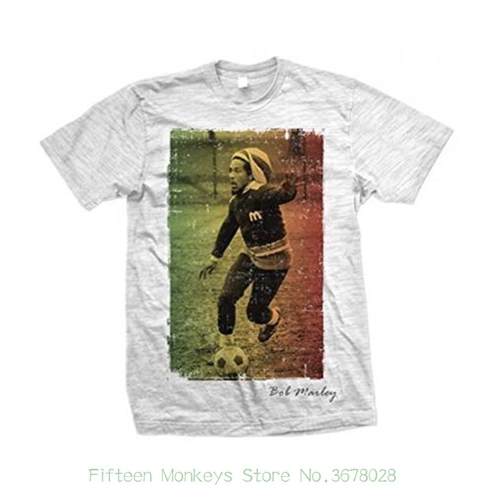 Amicable New Grey Unisex Funny Tops Tee Bob Marley Footballer Text Mens Grey T Shirt : Large Up-To-Date Styling