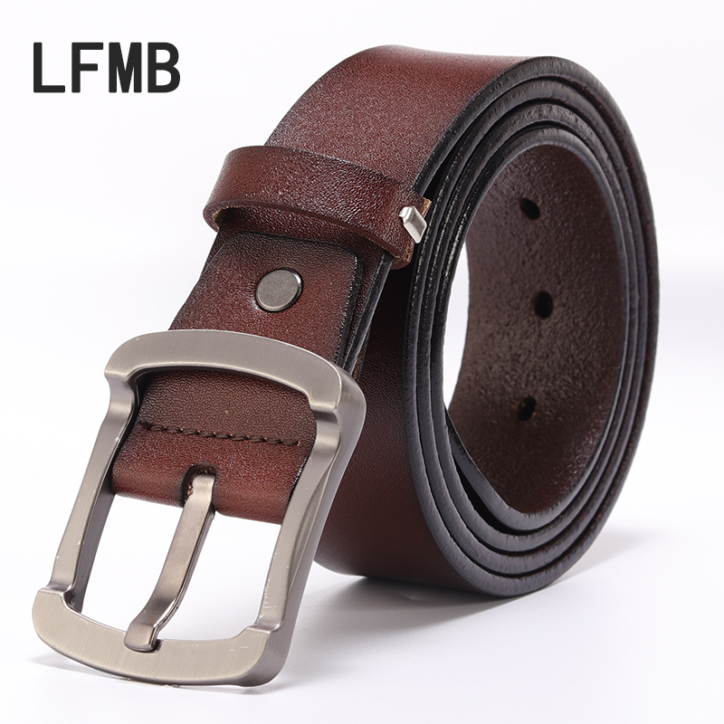 [LFMB] 2019 Male Fashion Casual Genuine Leather Strap Luxury Brand Men Belt Designer Belts Pin Buckle Belt For Men