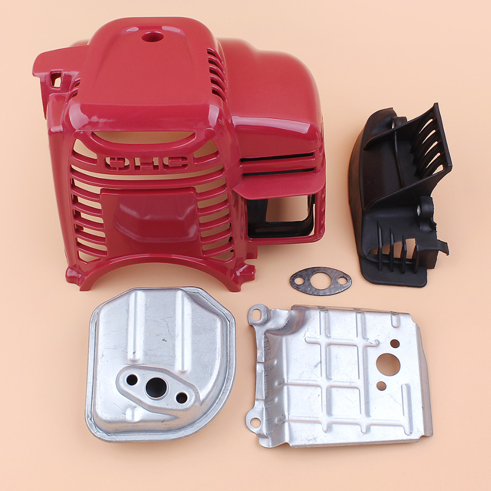 Cylinder Cover Muffler Exhaust Kit For Honda GX35 UMK435 GX 35 35 8cc 4-Stroke Gasoline Motor Engine Strimmer Brushcutter Mowers