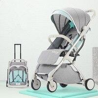 Роскошные Детские коляски может сидеть и лежат мини дети тележка путешествия Super Light Портативный дети тележки 11 видов стилей коляску синий б