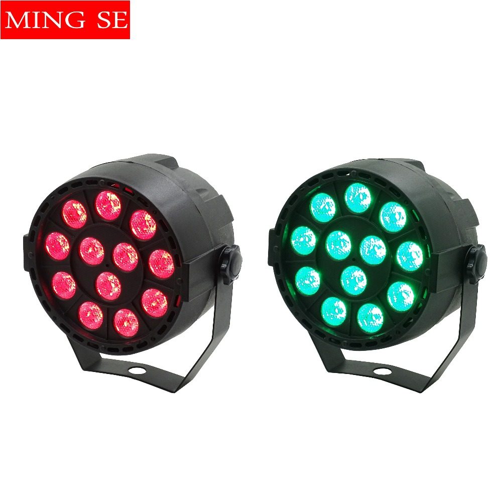 2Pcs/lots 12x3W Mini LED Par RGB 3in1 LED Stage Light 12*3W Par Light 3in1 Wall Wash Light For Bar KTV Party Stage Lighting