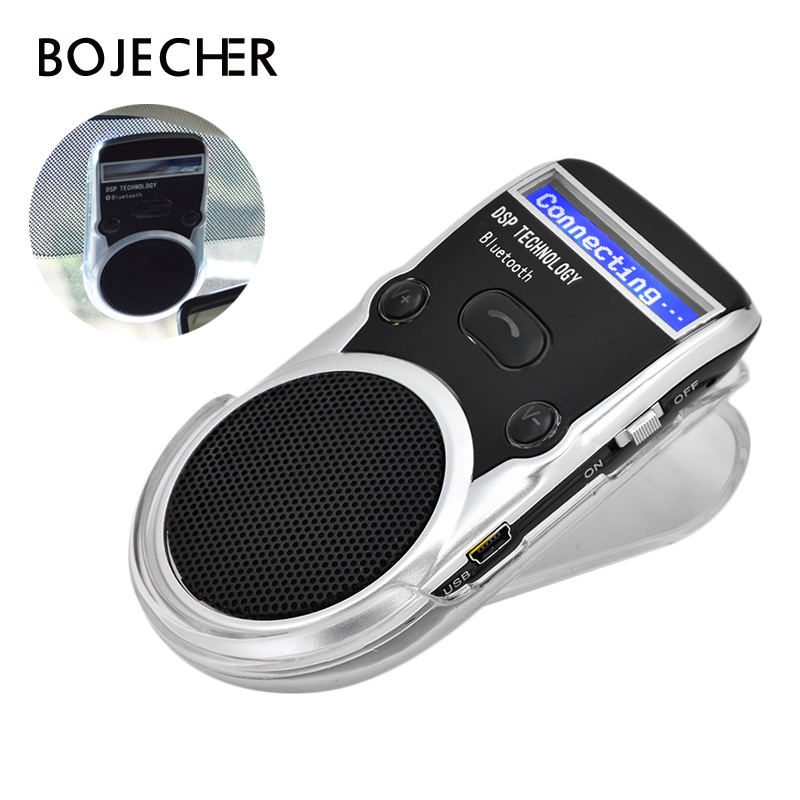 Aux Bluetooth Car Kit Handsfree Wireless Noise Cancelling Bluetooth Receiver Car Speakerphone Car Kit Multipoint Clip Sun Visor