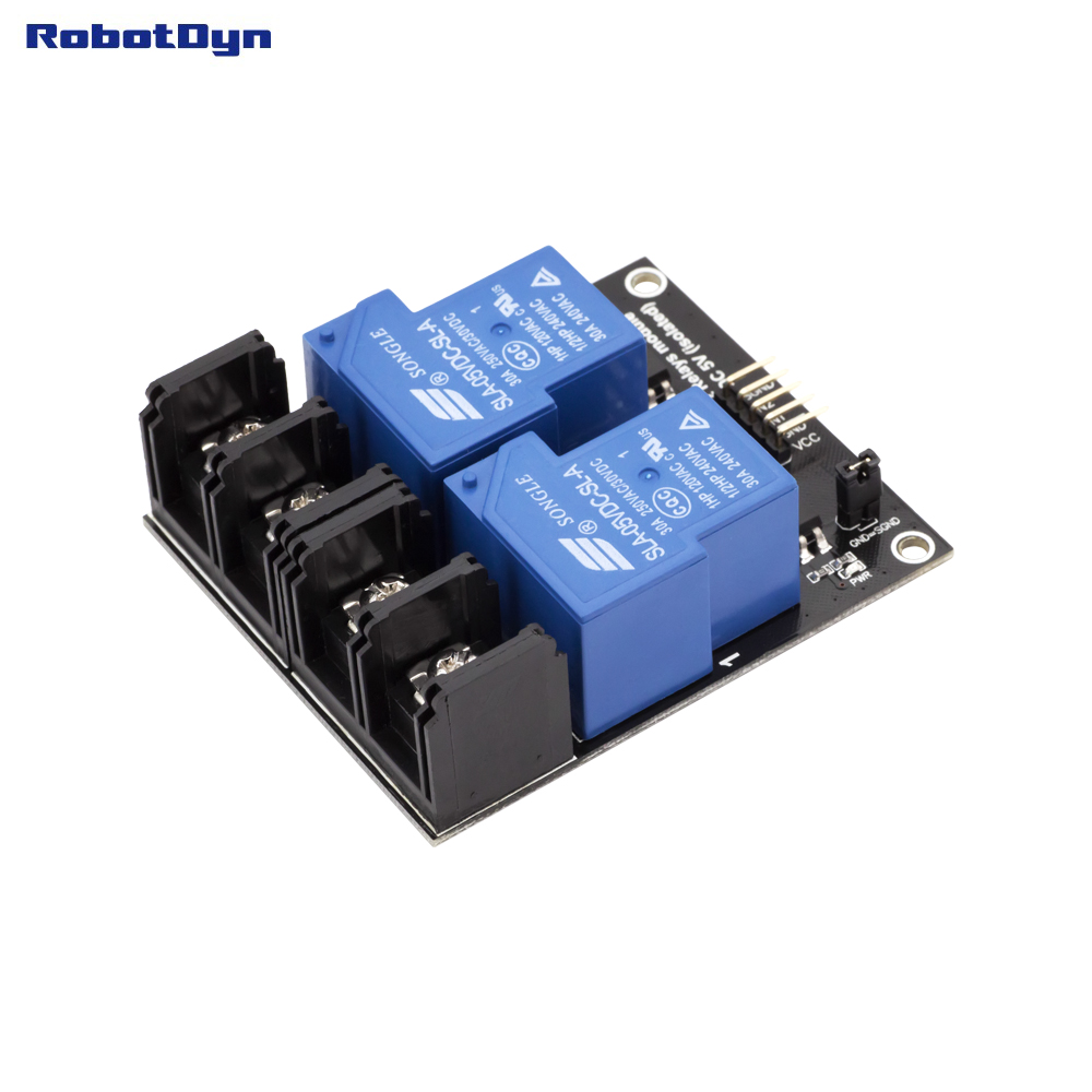 Relay Module 2 Relays, Operation 5V. VC - 30A 250VAC/30VDC