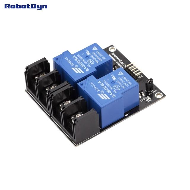 Relay Module 2 relays operation 5V VC 30A 250VAC30VDCin EL