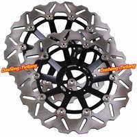 2 шт. передних тормозных дисковых роторов для Honda CB400 SF CB1 CB 400 SF Superour CB600 Hornet черный цвет нержавеющая