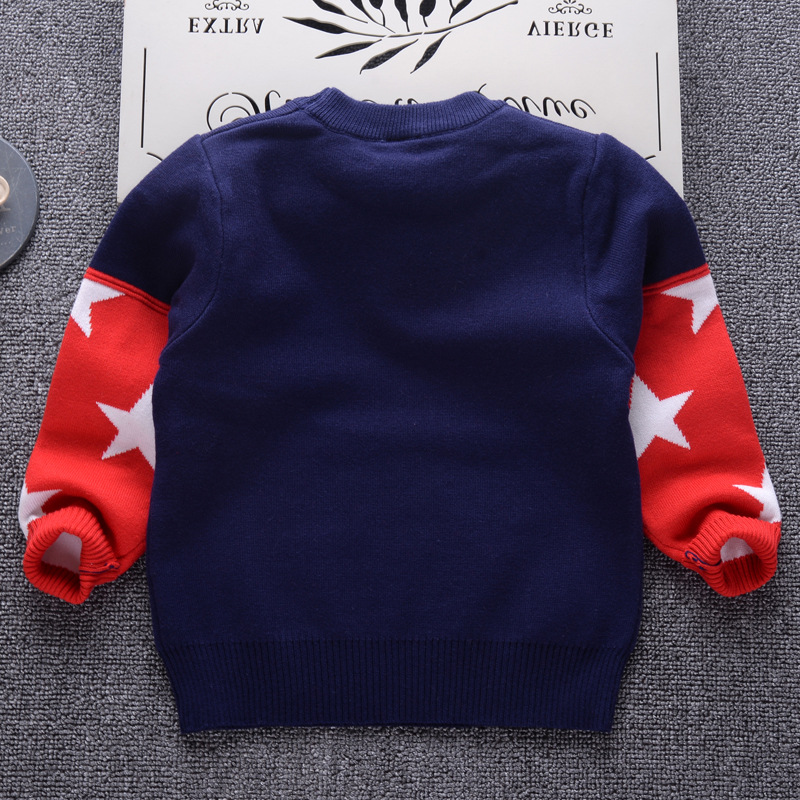 6f6a896e4 Toddler Boys Sweater 2018 Knit Double Layer Thick Sweater for Boys ...