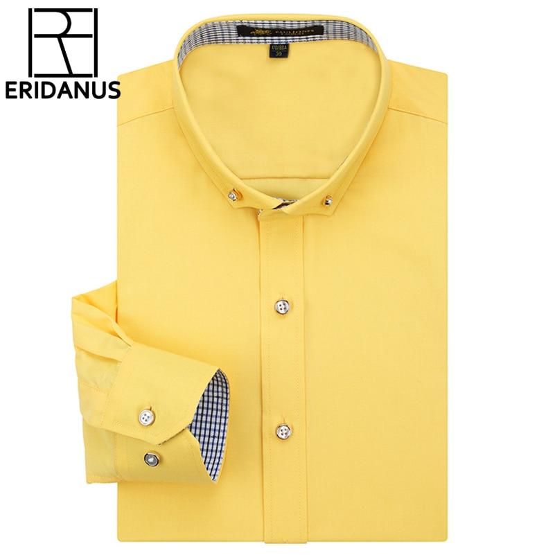 Frühling sommer 2017 neue ankunft langarm männer shirts schlank fitness patchwork plaid kragen hohe qualität casual baumwollhemd m473