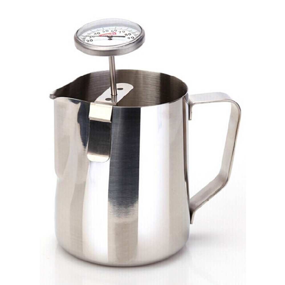 Stainless Steel Coffee Milk Thermometer Espresso Frothing