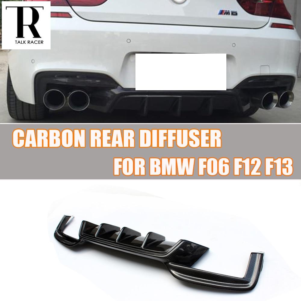 F06 F12 F13 M6 oglekļa šķiedras aizmugurējais difuzors BMW F06 - Auto rezerves daļas