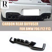 F06 F12 F13 M6 Carbon Fiber Rear Diffuser for BMW F06 F12 F13 640i 650i M-tech M-Sport & M6 Bumper 2012 - 2016