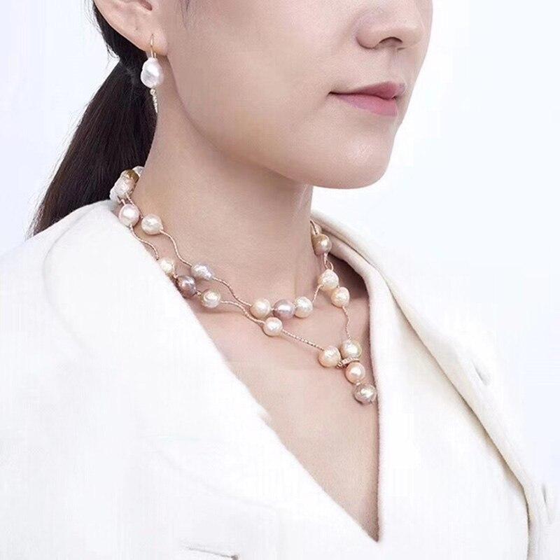 Amorita boutique Superiore perla dacqua dolce naturale lunga collana eleganteAmorita boutique Superiore perla dacqua dolce naturale lunga collana elegante