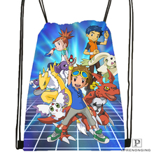 Custom digimon_beelzemon   Drawstring Backpack Bag Cute Daypack Kids Satchel (Black Back) 31x40cm#180612-03-Digimon2