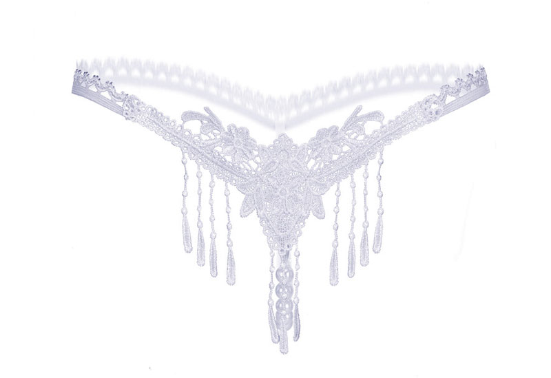 lace-bow-sexy-panties-women-underwear briefs--string-thong-g-strings-thongs-lingerie-sex-open crotch-pearl - (8)