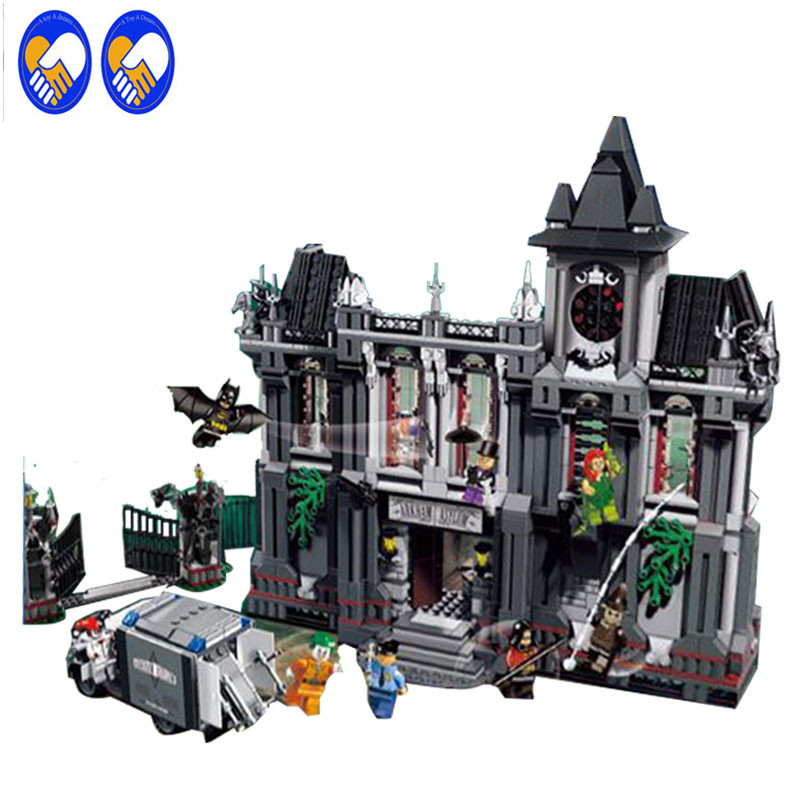 A Toy A Dream Super Heroes 07044 DC Comics Batman Arkham Asylum Breakout Building Brick Toys Compatible Lepin 10937 a toy a dream new decool 7124 genuine series marvel batman movie arkham asylum building blocks bricks toys with