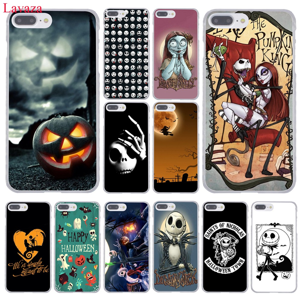 Lavaza Nightmare Before Christmas alloween Hard Phone Case for Apple iPhone 8 7 6 6S Plus X 10 5 5S SE 5C 4 4S