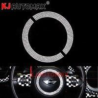 Dla 07 14 Mini Cooper R55 R61 KIEROWNICA kryształowy pierścień naklejki akcesoria Clubman Countryman dekoracji w Naklejki samochodowe od Samochody i motocykle na