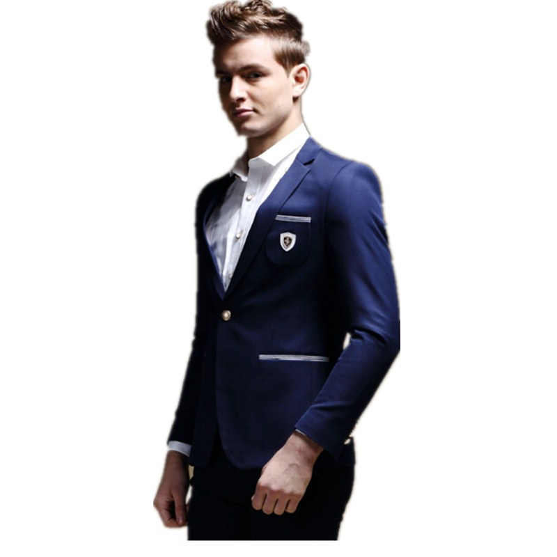 Fashion men's leisure suit young man suit one buttons birthday