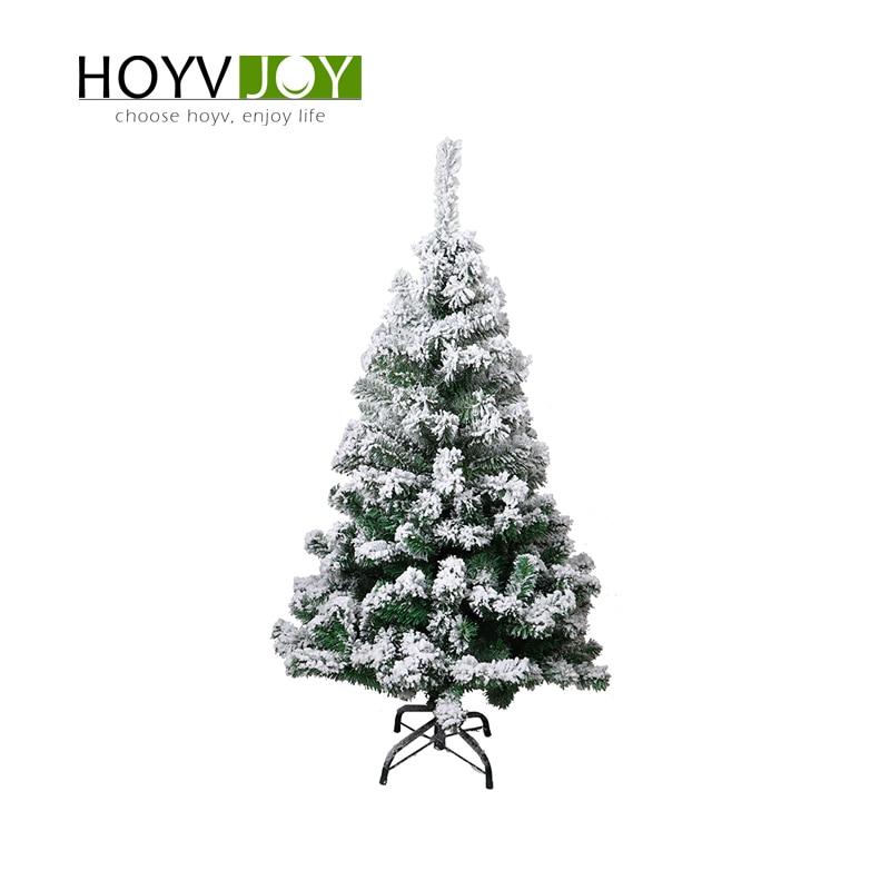 HOYVJOY Флокирование Рождественская елка 150 см Снежинка елка Рождественская семья отель украшение для торгового центра Новогодний подарок с о