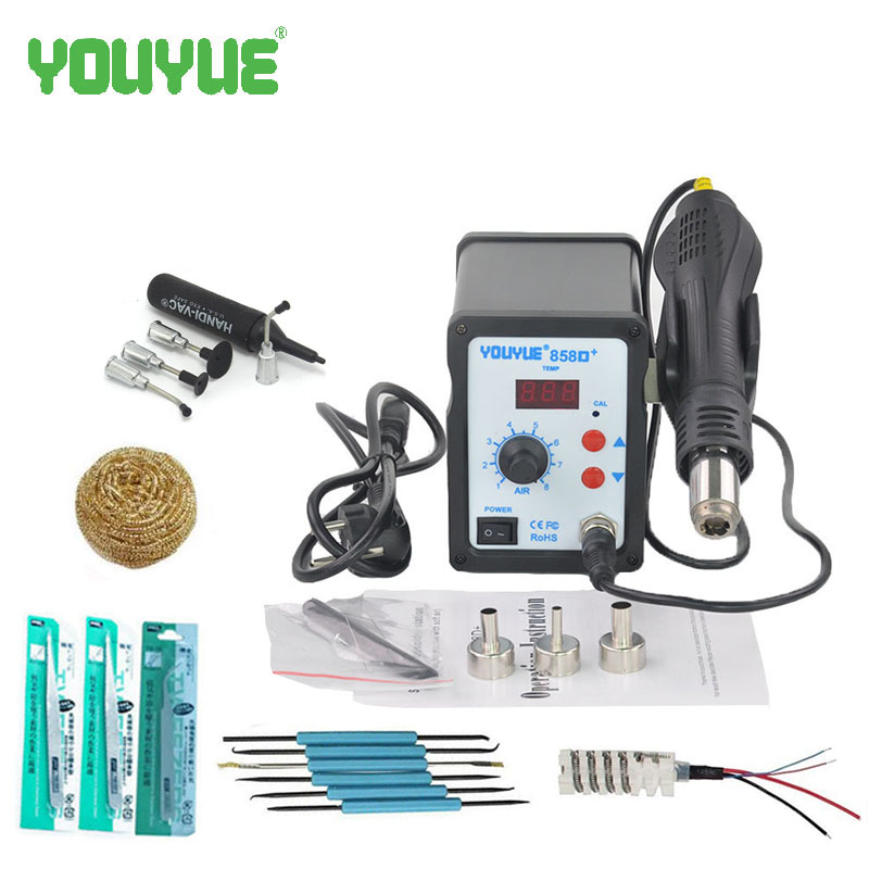UYUE 700W Hot Air Gun 858D+ ESD Soldering Station LED Digital Desoldering Station Upgrade from 858D+ 936 esd soldering station 700w soldering station
