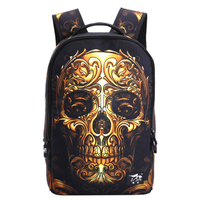 2017 Hot Sale 3D Cartoon Printing Backpack Men Woman Fashion Punk Rock Backpacks Skull Backpack Middle School Student Cool Bags