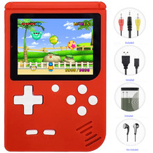 Classic Mini Game Consoles, JJFUN FC280 Handheld Games Built-in 400 Retro FC TV Video Games with 3.0 Inch LCD 1 USB Charge(China)