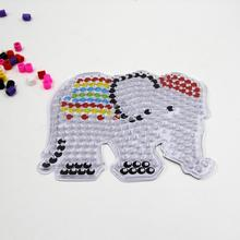 Elephant pegboard for 10mm artkal fuse beads kids educational toy XP05
