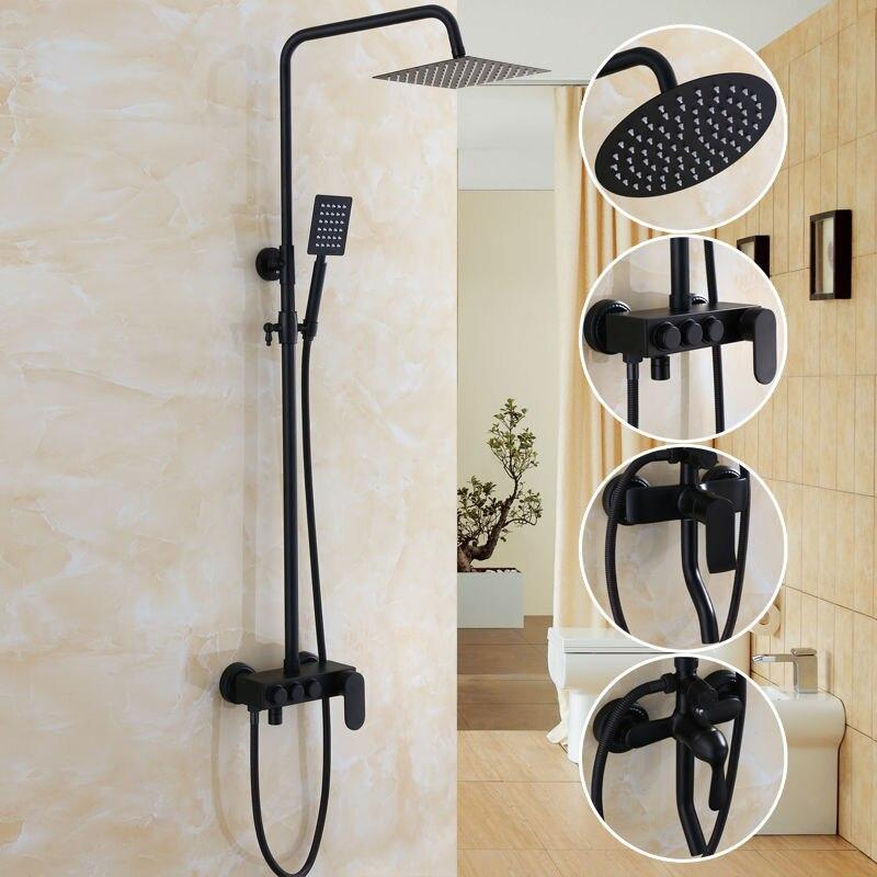bathroom black antique brass shower column shower set. Black Bedroom Furniture Sets. Home Design Ideas