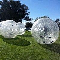 Бесплатная доставка морозостойкие ПВХ 2,5 м воздух Zorb надувные травы волна шар снежок воды переходящий мяч бесплатно насос