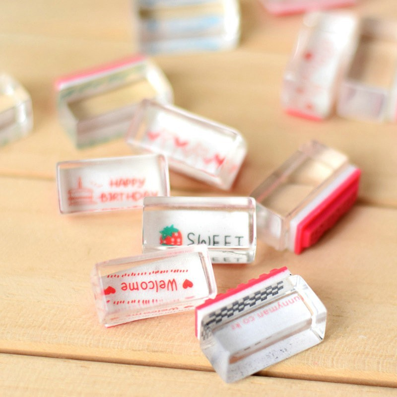 10Pc Transparent Rubber Stamp Blessing Seal DIY Diary Home Decoration Children's Toys afv club 35100 1 35 raac centurion mk 5 1vietnam