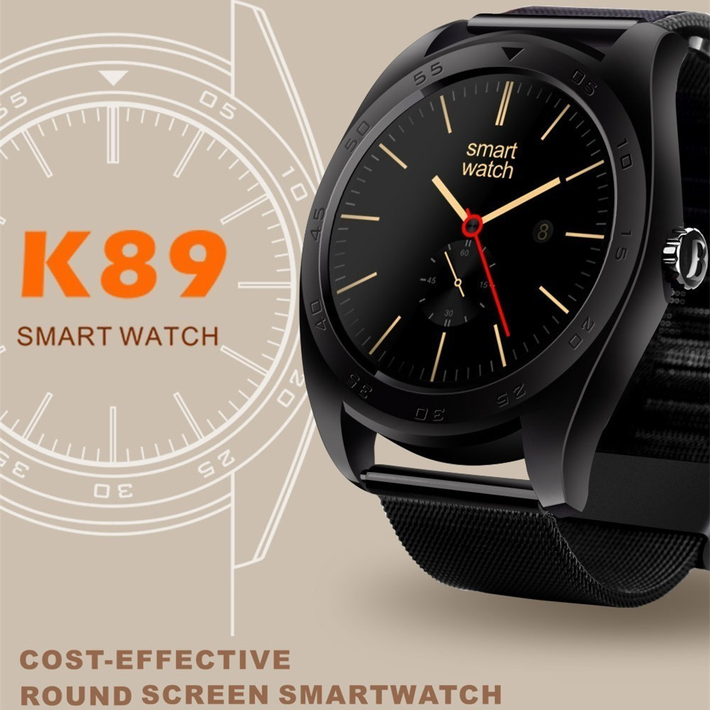 K89 Bluetooth Heart Rate Monitor Smart font b Watch b font Built in loudspeaker Microphone Smartwatch