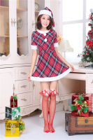 UDLFDZ Lively And Youthful Christmas Ladies Suits With Tops Mini Skirts And Christmas Hat Christmas Party