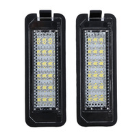 ICOCO 2pcs 18LED License Number Plate Light Lamp For VW Golf4 Golf5 Golf6 GTI With Decoding