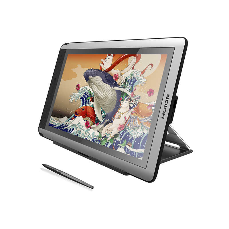 Huion Kamvas 16 15.6 Inci Pena Tablet Monitor Digital Grafis Menggambar Monitor Pena Layar Monitor