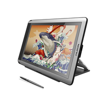 HUION Tableta con bolígrafo KAMVAS 16, Monitor de 15,6 pulgadas, gráficos Digitales, lápiz capacitivo para dibujo, Monitor de pantalla