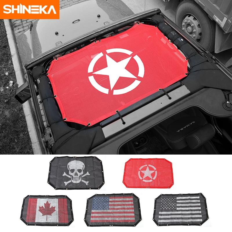 SHINEKA Car-Cover Uv-Protector Wrangler Sunshade-Top Roof-Mesh Jeep for 2-Doors