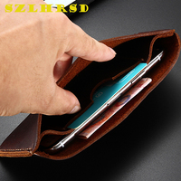 Genuine Leather Wallet Case for ASUS ZenFone 4 Max HD ZB500TL Cases Phone bag For Cover Retro card holder