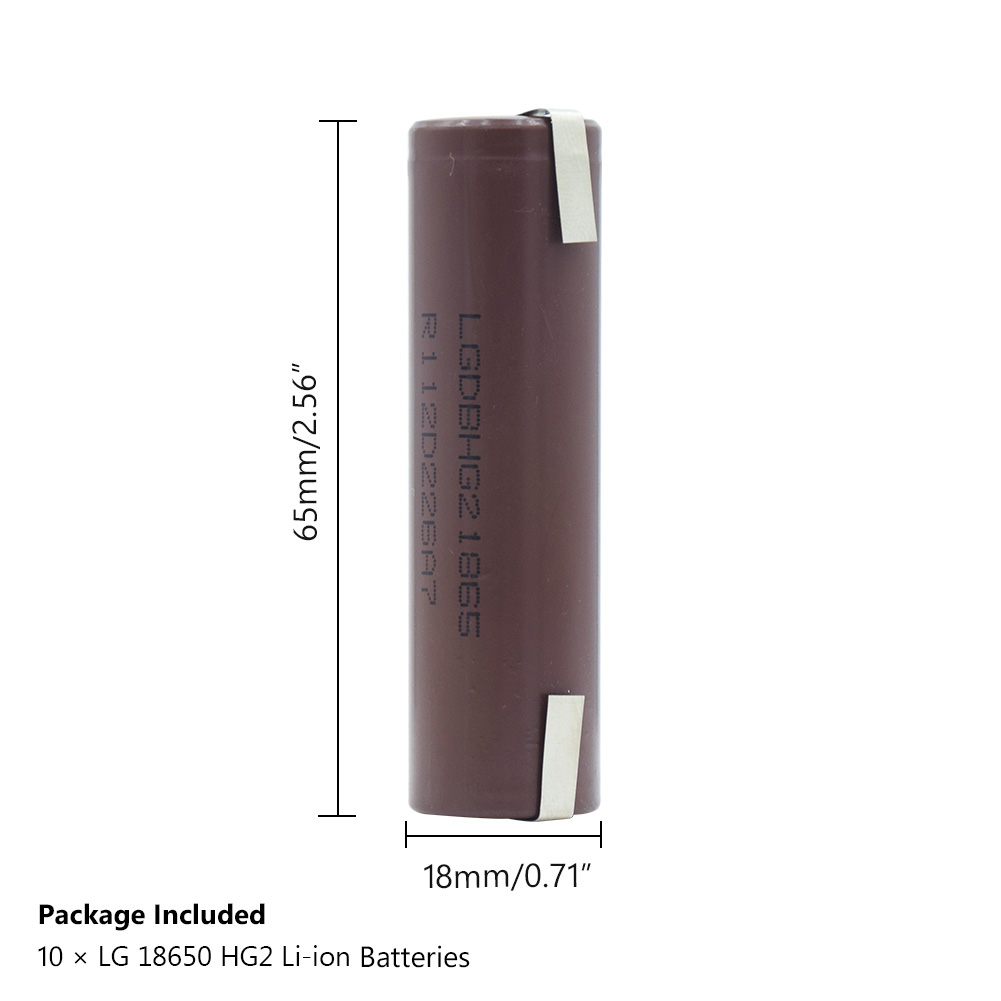 2019 POSTHUMAN 18650 Battery Charger Intelligent High Drain HG2 18650 Battery 3000mAh Max 20A DIY Nickel For Torch Vape in Replacement Batteries from Consumer Electronics