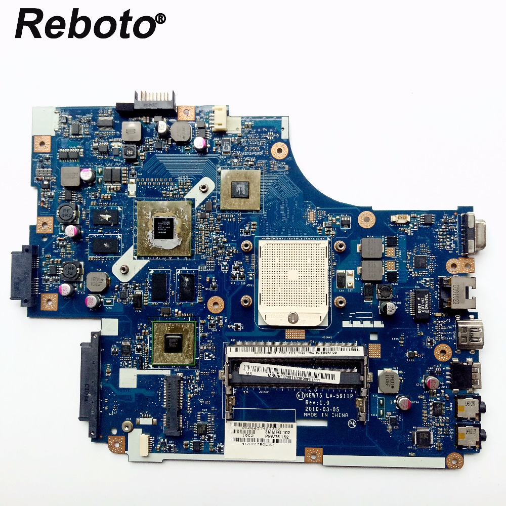 Reboto FOR ACER 5551G 5552G Laptop Motherboard Mainboard NEW75 LA 5911P MBWVF02001 HD 6650M 1GB DDR3