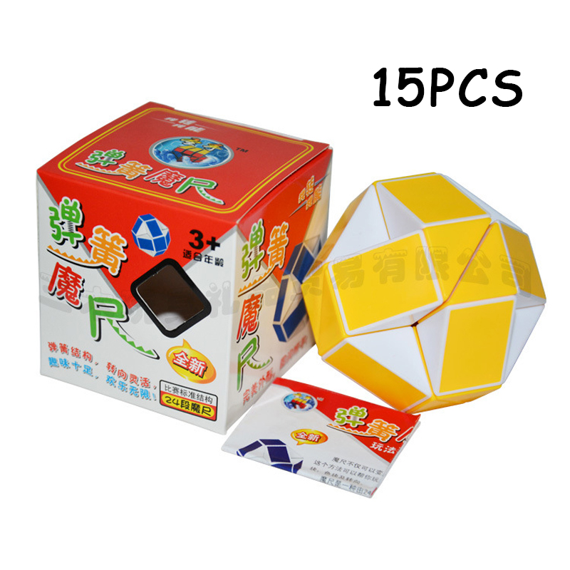 Toys & Hobbies Puzzles & Games 30pcs Shengshou Red Black 24 Sections Cubo Magico Snake Ruler Magic Cube Speed Twist Puzzle Toys For Children Anti Stress Toys