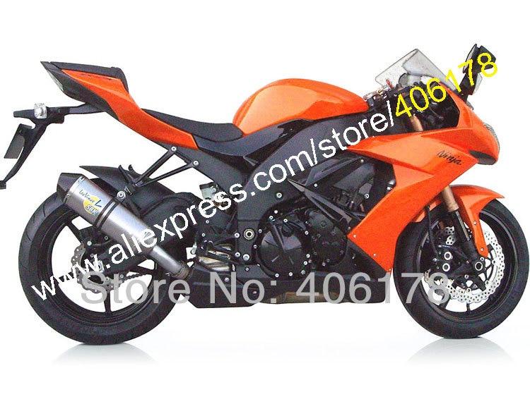 Hot Sales,For Kawasaki NINJA 2008 2009 2010 ZX-10R New Orange ZX10R Z X 10R Free Customized ABS Moto Fairing (Injection molding)